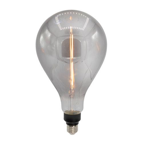 E27 dimbare filament LED lamp, Ø160mm, 7W, smoke glas