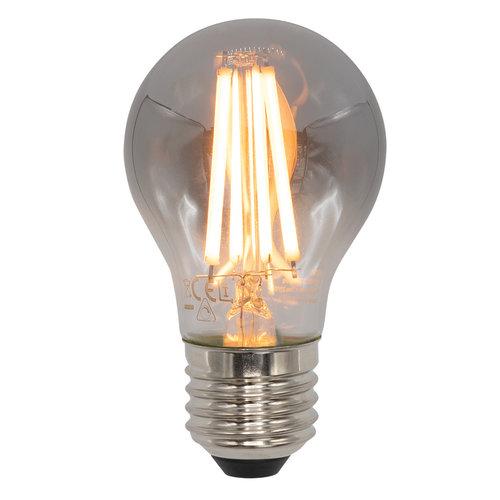 E27 dimbare filament LED lamp, Ø60mm, 8,5W, smoke glas