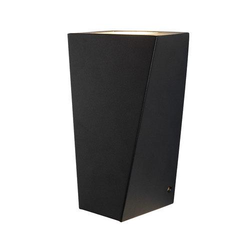 RVS moderne wandlamp zwart - Luisa