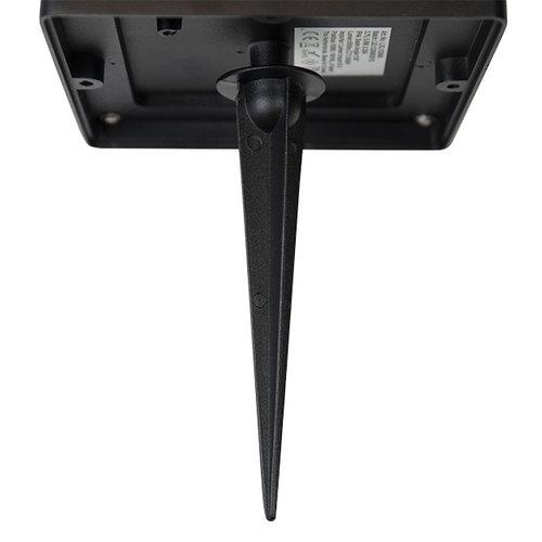 Zwarte staande buitenlamp  met solar en sensor - Marcello