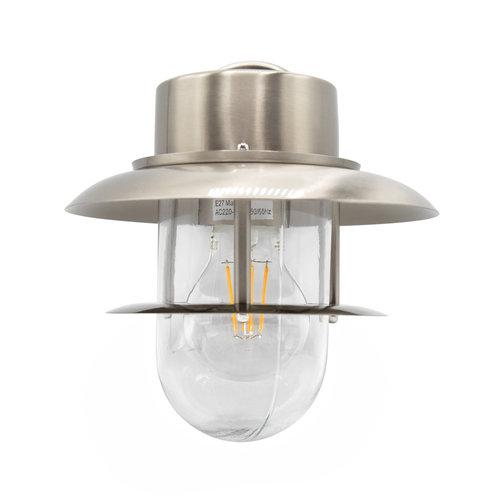 Landelijke wandlamp RVS - Fabio