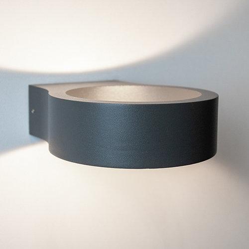 Moderne ronde buitenlamp Leo - zwart
