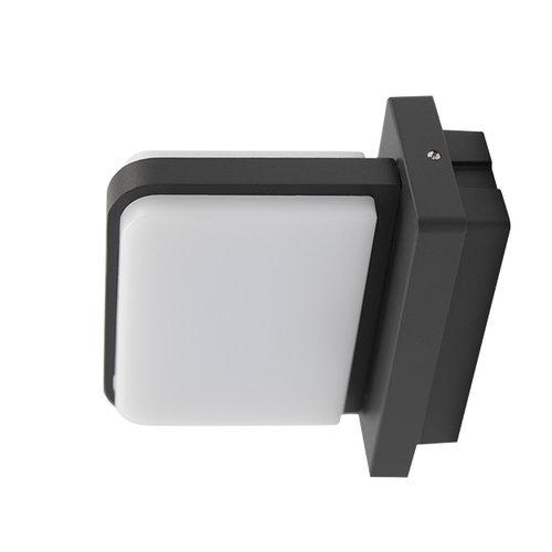 Moderne buitenwandlamp Lorenzo IP44 - antraciet
