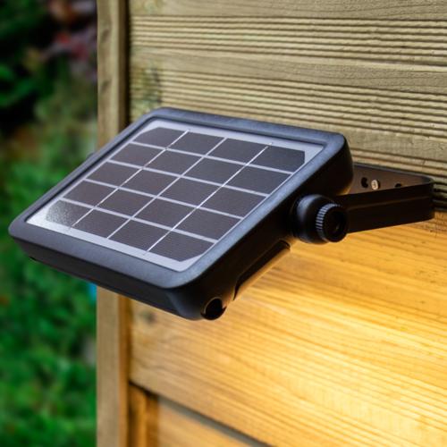 Solar buitenwandlamp Robo 5W met sensor - zwart