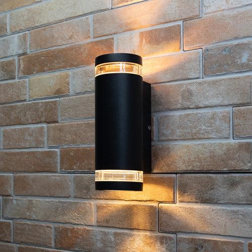 Buitenwandlamp Showman 2-lichts - zwart