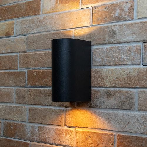 Moderne ronde wandlamp Madame - zwart