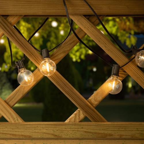 Solar lichtsnoer voor buiten met 20 kleine ronde lampjes - 10 meter