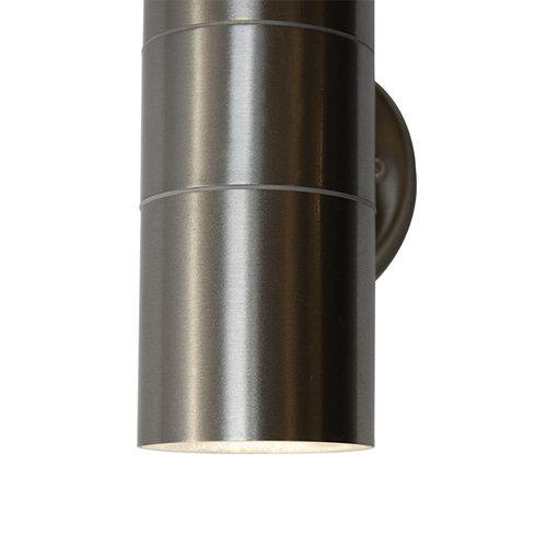 RVS design wandlamp Amy - 2-lichts