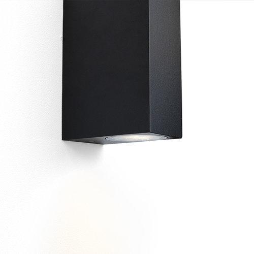 Moderne vierkante wandlamp Dutchman - zwart