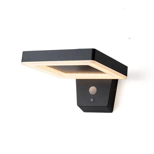 Moderne wandlamp buiten met sensor Pablo - zwart