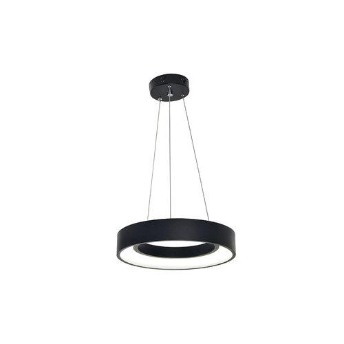 Moderne hanglamp matzwart metaal - Roundy