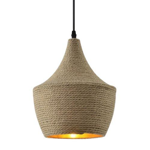 Landelijke hanglamp met touw - Laos