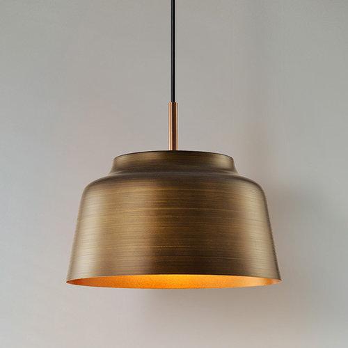 Moderne hanglamp zwart met goudkleurige binnenzijde – New York