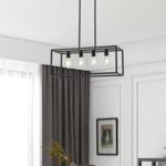 Industriële hanglamp zwart 4-lichts – Zagreb kooi