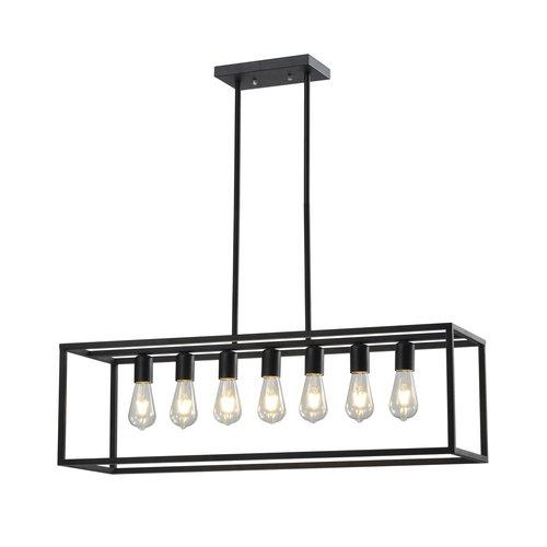 Industriële hanglamp zwart 7-lichts – Zagreb kooi