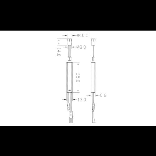 Deursensorschakelaar 12V/ 24V - wit