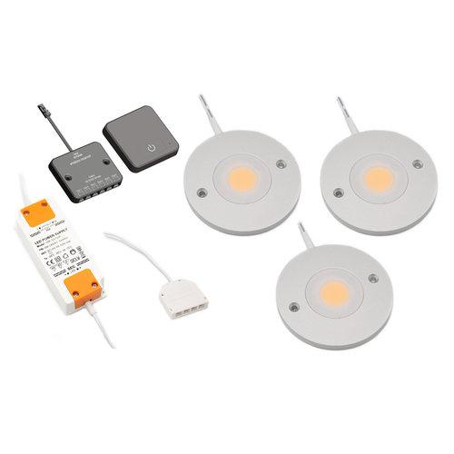 LED kastverlichting Kaya complete set van 3 spots