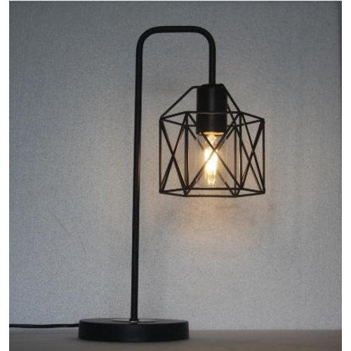 Industriële tafellamp met zwart metaal - Peru