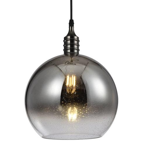 Design hanglamp met smoke glas spiegelbol - London
