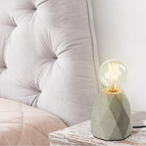 Moderne tafellamp grijs met betonnen voet - Stockholm
