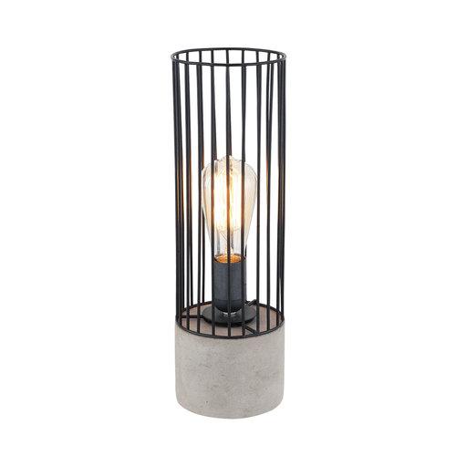 Industriële tafellamp zwart met robuuste voet - Palma