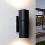 Ronde wandlamp zwart Olivia - 2-lichts