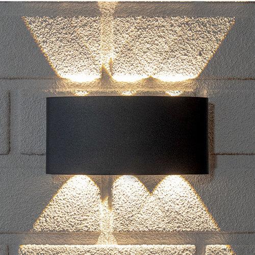 Design wandlamp buiten Sena 6 x 1W- antraciet