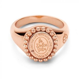 Mi Moneda Soho ring 925 silver rosegold plated