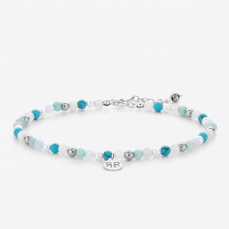 Rebel & Rose Anklet Blue fantasy - 4mm