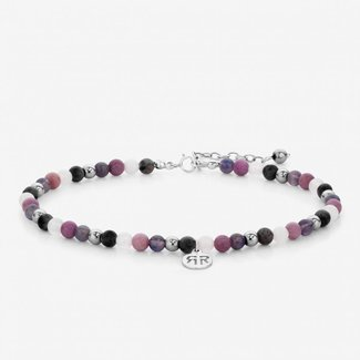 Rebel & Rose Anklet Pink fantasy - 4mm