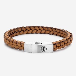 Rebel & Rose Absolutely Leather - Braided Square 925 Cognac