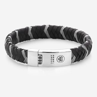 Rebel & Rose Absolutely Leather - Braided Oval Metal Black