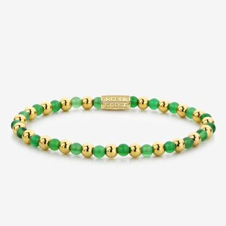 Rebel & Rose More Balls Than Most - Mix Green Harmony - 4mm - yellow gold plated