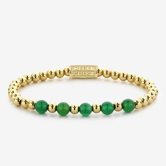 Rebel & Rose More Balls Than Most - Yellow Gold meets Green Harmony - 6mm