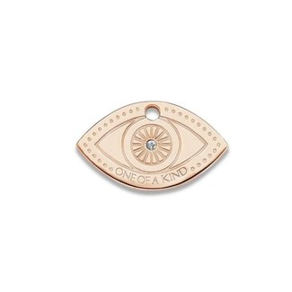 Mi Moneda Eye Tag 20mm With Swarovski Crystals Rosé