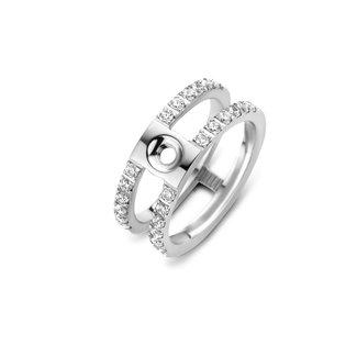 Melano Jewelry Twisted Trista CZ Ring | Zilver