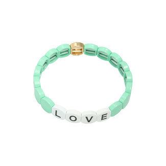 Yehwang Bracelet Colourful Love Round | Green