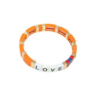 Yehwang Bracelet Colourful Love | Orange