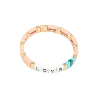 Yehwang Bracelet Colourful Love | Pink