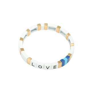 Yehwang Bracelet Colourful Love | White