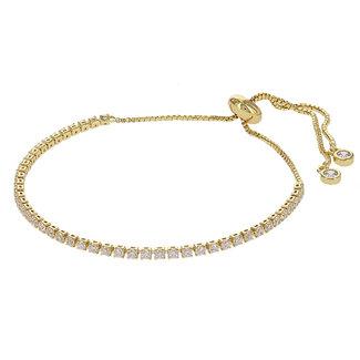Kalli Kalli Strass Armband Crystal | Goud
