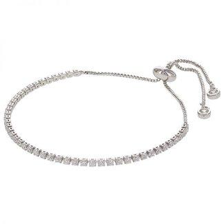 Kalli Kalli Strass Armband Crystal | Zilver