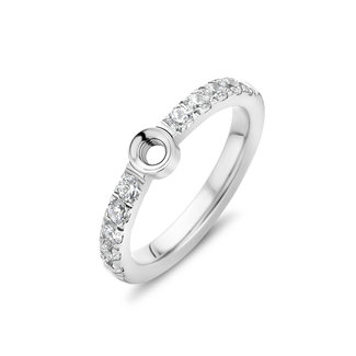 Melano Jewelry Twisted Crystal Ring | Zilver