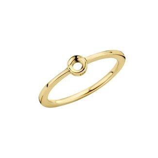 Melano Jewelry Twisted Petite Ring Goudkleurig