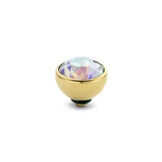 Melano Jewelry Twisted Basic Cz Steentje | Goud | 8mm