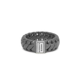 Buddha to Buddha Ring Ben Small Black Rhodium Zilver