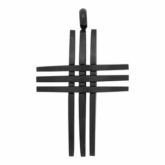 iXXXi Jewelry Cross Open Heren Hanger Mat Zwart