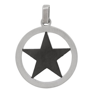 iXXXi Jewelry Star Heren Hanger Zwart