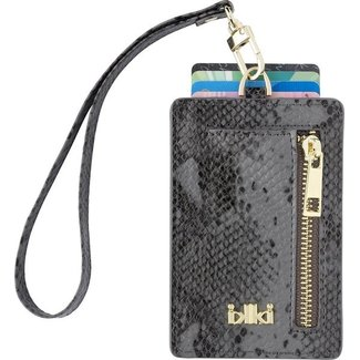 IKKI MADISON Cardholder Black & Grey Snake