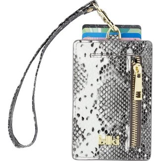 IKKI MADISON Cardholder Black & White Snake